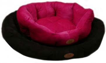 Lounger Dog bed S2 Corduroy Black