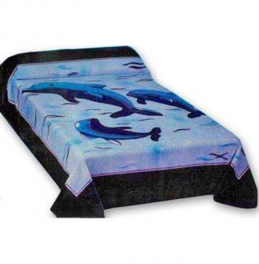 Dolphins mink blanket