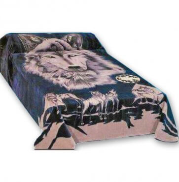 Prarie wolves mink blankets