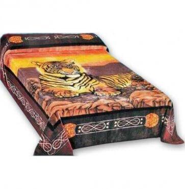 Bangol Tiger mink blanket