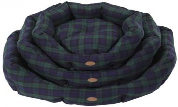 Lounger Dog bed S3 Black watch