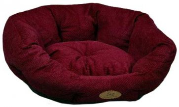 Lounger Dog bed S2 Corduroy Burgundy